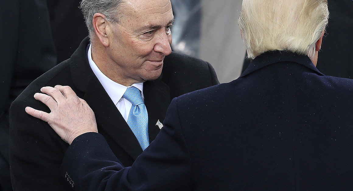 Trump Tells Schumer No Wall, No DACA