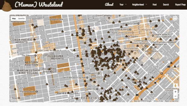 San Francisco A Sh*thole? Website Shows You Where There's Public Defecation